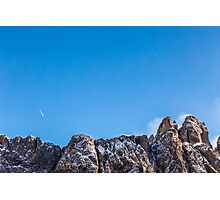 wind on the summit of the mountain Photographic Print