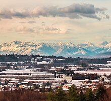 italian fields with snow by zakaz86
