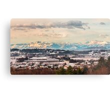 italian fields with snow Metal Print
