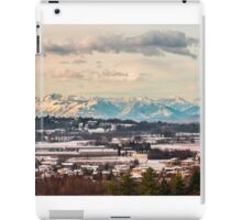 italian fields with snow iPad Case/Skin