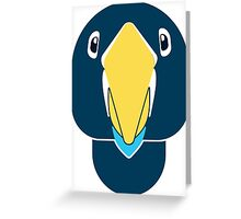 creative parrot face Greeting Card