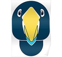 creative parrot face Poster
