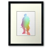 Elite Knight Paint Splatter Framed Print