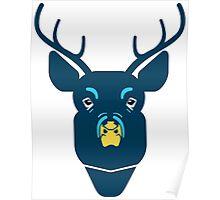 creative deer face design Poster