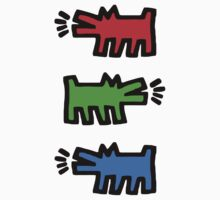 "HARING - RGB "" Red Green Blue"" Kids Tee"