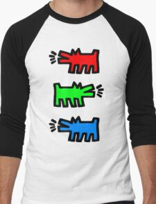 "HARING - RGB "" Red Green Blue"" Men's Baseball ¾ T-Shirt"