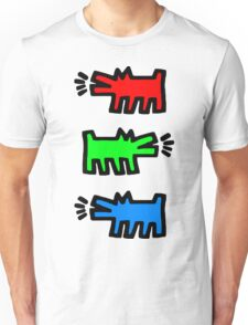 "HARING - RGB "" Red Green Blue"" Unisex T-Shirt"