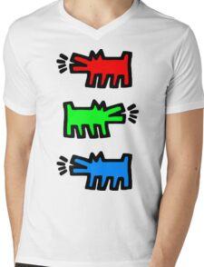 "HARING - RGB "" Red Green Blue"" Mens V-Neck T-Shirt"