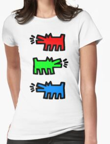 "HARING - RGB "" Red Green Blue"" Womens Fitted T-Shirt"