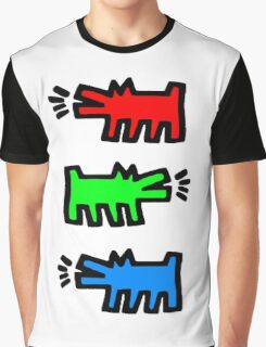 "HARING - RGB "" Red Green Blue"" Graphic T-Shirt"