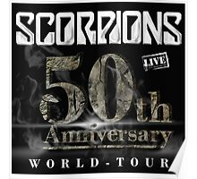 SCORPIONS 50TH ANNIVERSARY TOUR Poster