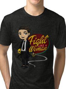 Fight Like a Woman (Saga: The Brand) Tri-blend T-Shirt