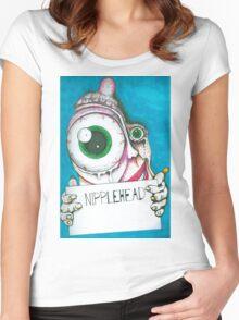 Nipple Head Women's Fitted Scoop T-Shirt