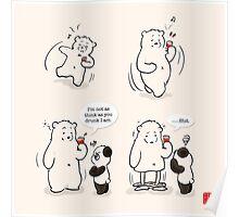 Drunk As A Polar Bear Poster