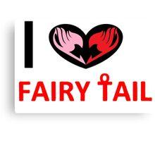 i love fairy tail Canvas Print