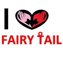 i love fairy tail Photographic Print