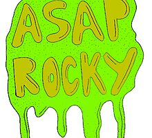 ASAP ROCKY GREEN YELLOW SLIME DRIP by SourKid