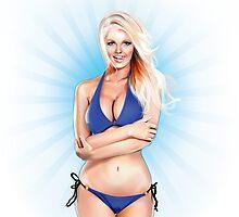 Zienna, Cheeky in Blue by Brian Gibbs