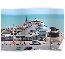 Hastings pier, East Sussex Poster