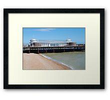 Rebuilding Hastings pier Framed Print