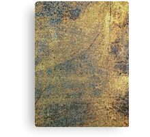 Grunge Yellow & Blue Rusted Metal Pattern Canvas Print