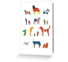 MANY NATIONS UNDER DOG Greeting Card