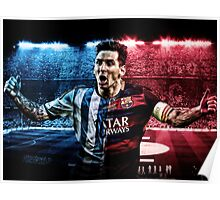 Messi Barca-Argentina Poster