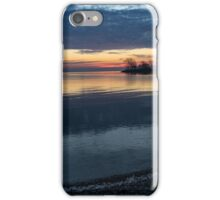Stripes and Layers - Sunrise on the Lake Shore iPhone Case/Skin