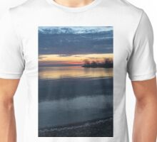Stripes and Layers - Sunrise on the Lake Shore Unisex T-Shirt
