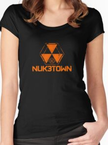 CoD Nuketown Bo 3 Logo Women's Fitted Scoop T-Shirt