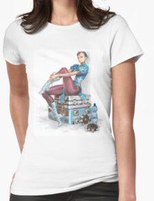Chun-li Womens Fitted T-Shirt