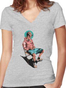 TRAVIS $COTT Women's Fitted V-Neck T-Shirt