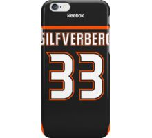 Anaheim Ducks Jakob Silfverberg Jersey Back Phone Case iPhone Case/Skin