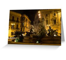 Diana Fountain -  Syracuse, Sicily Greeting Card