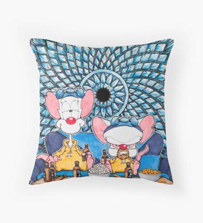 Pinkman and the Brain Throw Pillow