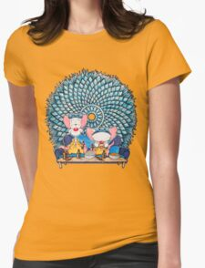 Pinkman and the Brain Womens Fitted T-Shirt