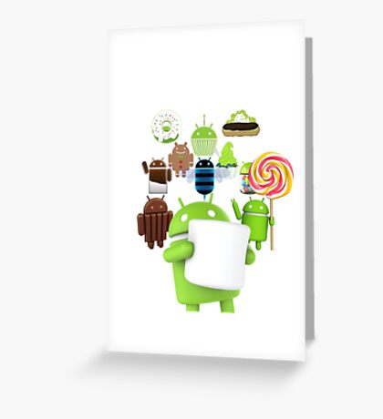 11 Androids Greeting Card
