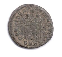 Ancient Roman Constantine coin from 84 CE by PhotoStock-Isra