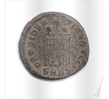 Ancient Roman Constantine coin from 84 CE Poster