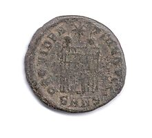 Ancient Roman Constantine coin from 84 CE Photographic Print