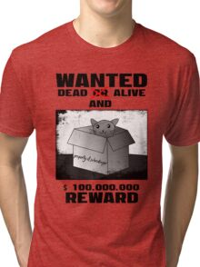 Schrödinger's cat: WANTED dead AND alive (2) Tri-blend T-Shirt
