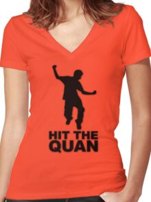 HIT THE QUAN Women's Fitted V-Neck T-Shirt