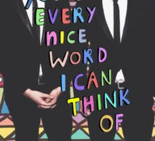 You're Every Nice Word I Can Think Of: Dan and Phil Edit Sticker