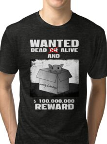 Schrödinger's cat: WANTED dead AND alive (1) Tri-blend T-Shirt