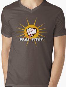 Free Tibet Mens V-Neck T-Shirt