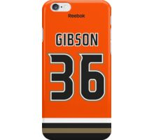 Anaheim Ducks John Gibson Alternate Jersey Back Phone Case iPhone Case/Skin