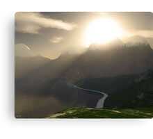 Sunshine Over The Mountains Canvas Print