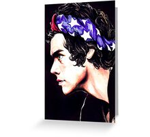 Harry Styles - American flag Greeting Card