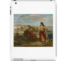 EUGENE DELACROIX,  VIEW OF TANGIER WITH FIGURES iPad Case/Skin