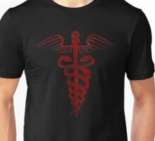 Caduceus Symbol - Blood Edition Unisex T-Shirt